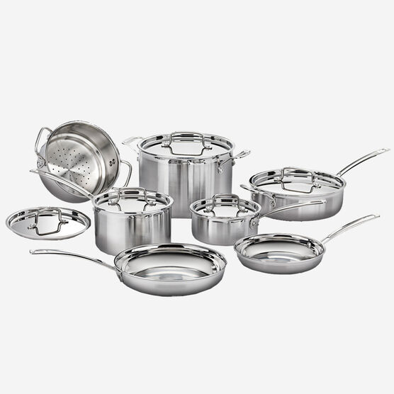 12 Pc Multiclad Pro Stainless Cookware Set