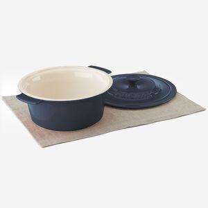 3 Qt. (2.8 L) Round Covered Baker - Blue