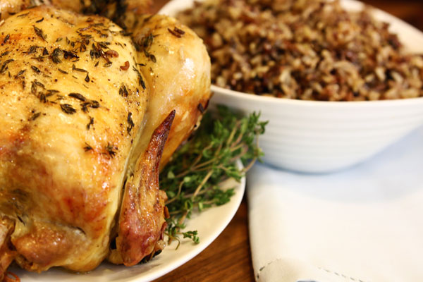 Rotisserie Chicken with Wild Rice Pilaf