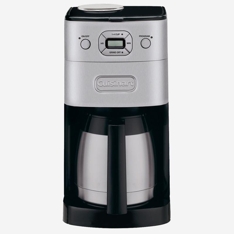 cafeti re automatique moulin int gr avec verseuse isolante de 10 tasses grind and brew cuisinart. Black Bedroom Furniture Sets. Home Design Ideas