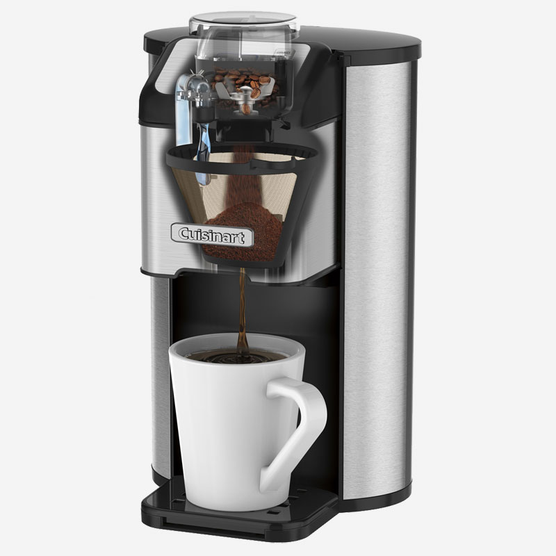 cafeti re une tasse avec moulin int gr grind and brew cuisinart. Black Bedroom Furniture Sets. Home Design Ideas