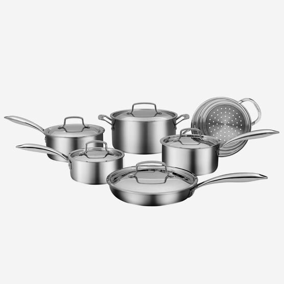 11 piece Professional Series Five Ply Cookware Set