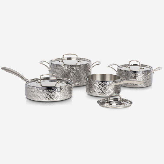 8-Piece Vintage Hand Hammered Tri-Ply Cookware Set