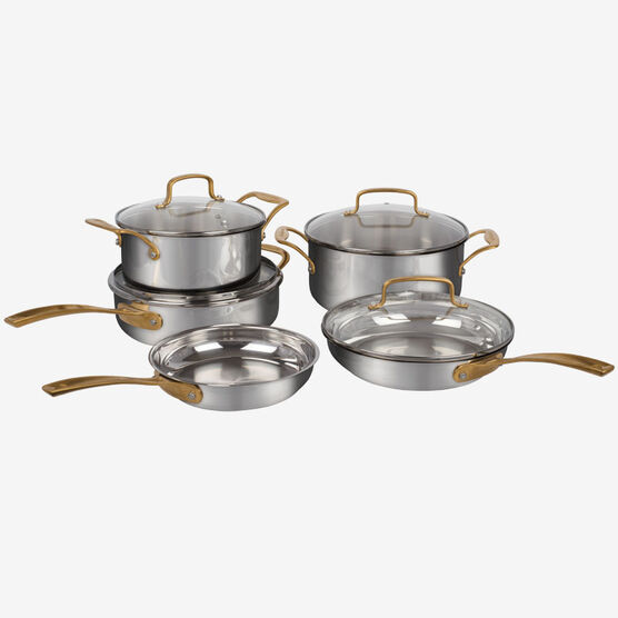 9 Piece MetalExpressions Stainless Steel Cookware Set