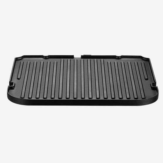 Reversible grill/griddle plate