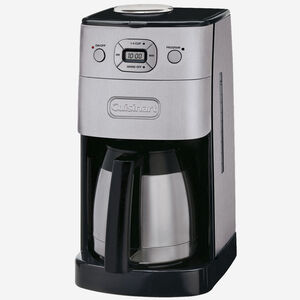 Cafetière automatique à moulin intégré avec verseuse isolante de 10 tasses Grind and Brew
