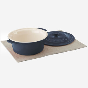3 Qt. (2.8 L) Round Covered Baker - Blue