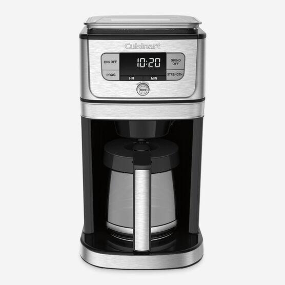 Cafetière entièrement automatique 12 tasses à moulin intégré Burr Grind & Brew