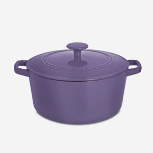 5 Qt. Round Casserole with Lid - Purple