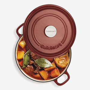 4.4 Qt. Round Casserole with Self-Basting Cover - Red