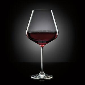 Set of 4 Burgundy Wine Glasses