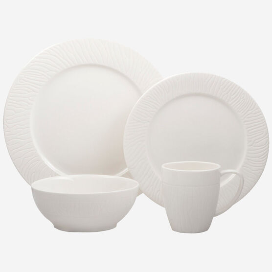 16-Piece Porcelain Dinnerware Set - Tavio Collection