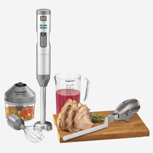 Smart Stick Variable Speed Cordless Rechargeable Hand Blender with Electric Knife