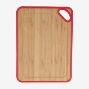 13.4 x 9.8 in. (34 x 25 cm) Bamboo and Poly Cutting Board