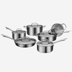 Professional Series 11 Piece Tri-Ply Cookware Set