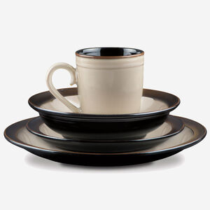 Cuisinart Classic Stoneware Antica Brown Collection 16 Piece Dinnerware Set