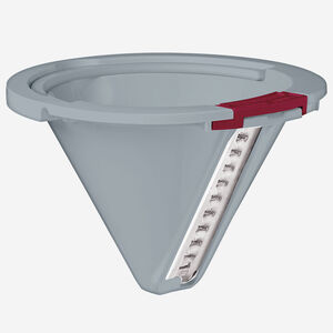 SSL-100 3 mm THIN SHRD/SPG  Cone Red