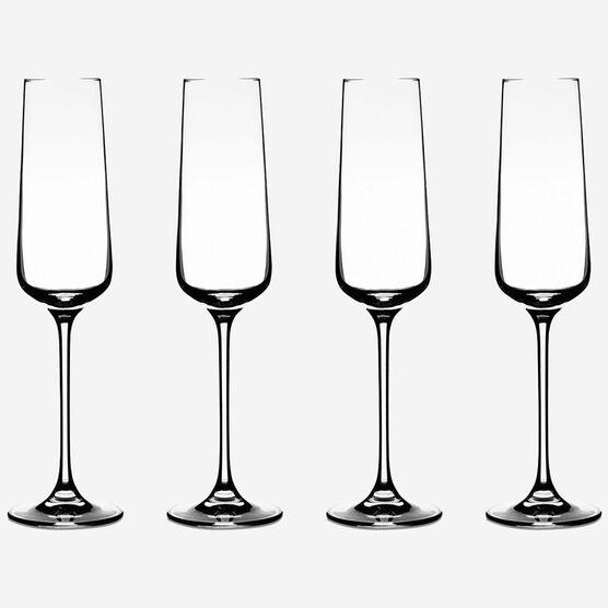 Jeu de 4 flûtes à champagne