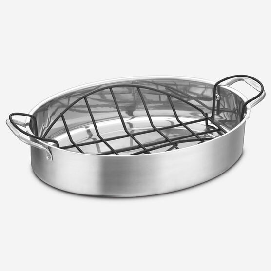 "17"" Roasting Pan with Non-Stick Rack"
