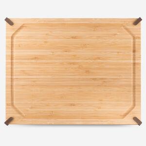 12 x 18 in. (30 x 45 cm) Non-Slip Rectangular Bamboo Cutting Board