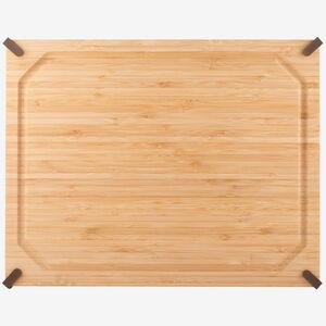 Planche à découper en bambou rectangulaire antidérapante 14 x 20 po (35 x 51 cm)
