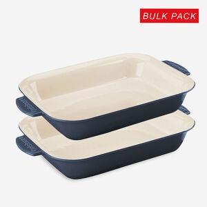 2-Pack 4 Qt. (3.8 L) Rectangular Baker - Blue