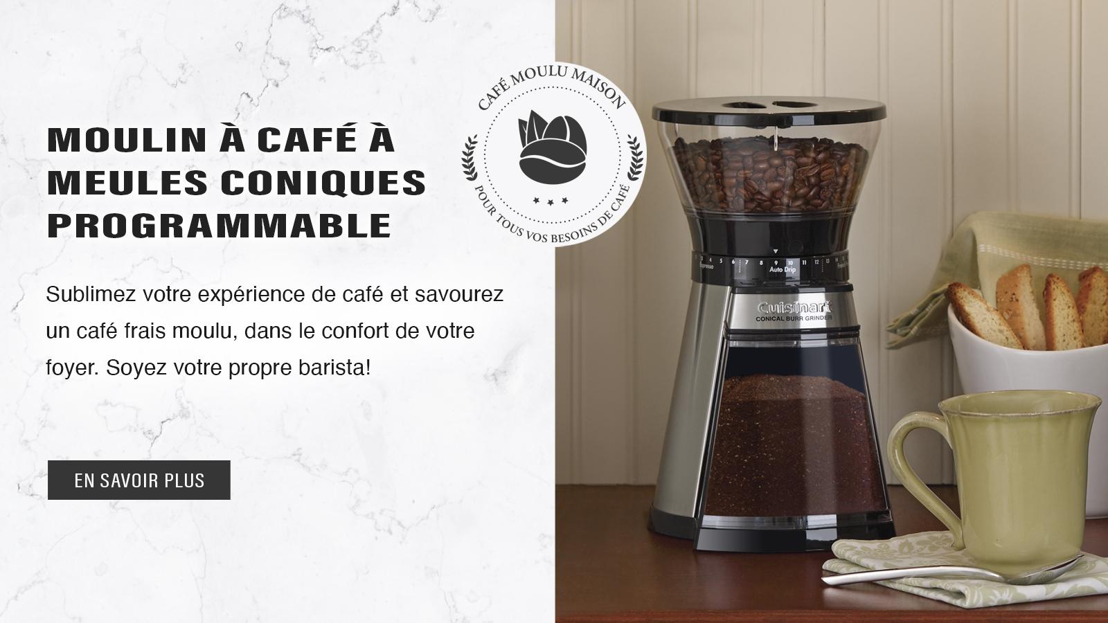 Moulin à café à meules coniques programmable