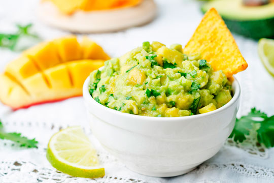Summer Avocado Salsa with Mango, Mint and Cucumber
