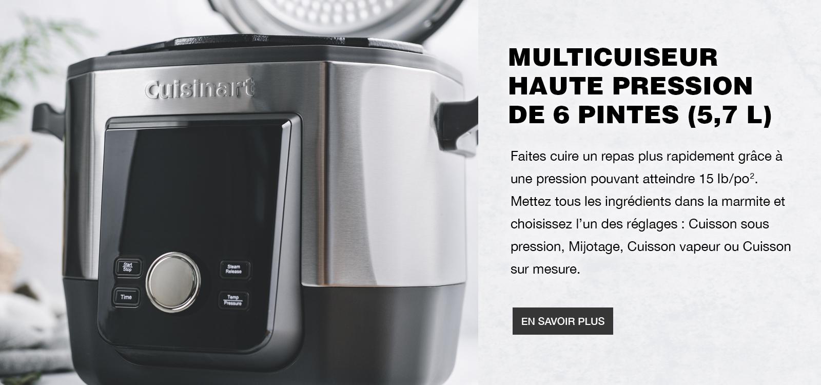 6 QT. High-Pressure Multi-Cooker