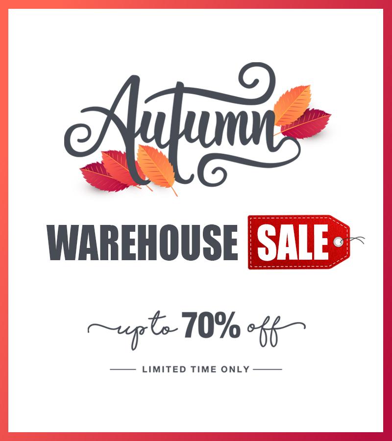 Solde d'entrepôt d'automne