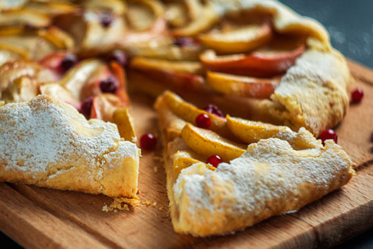 Rustic Apple and Cranberry Galette