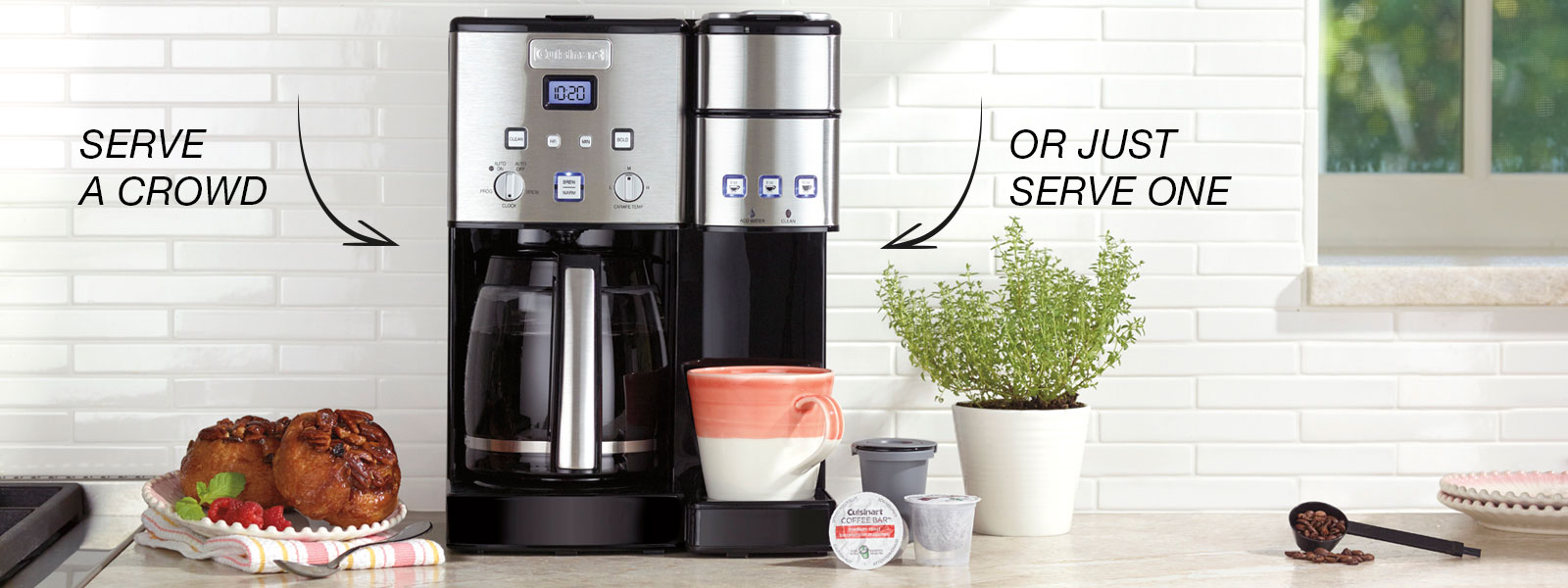 2 In 1 Coffee Centerbr12 Cup Coffeemaker Single Serve Brewer