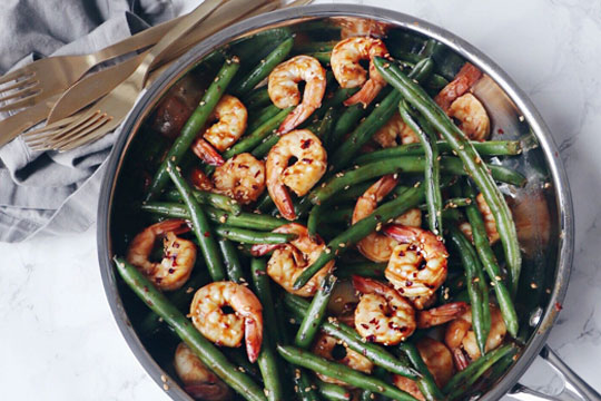Green Beans with Shrimp