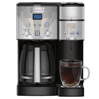 2 In 1 Coffee Center 12 Cup Coffeemaker Amp Single Serve Brewer