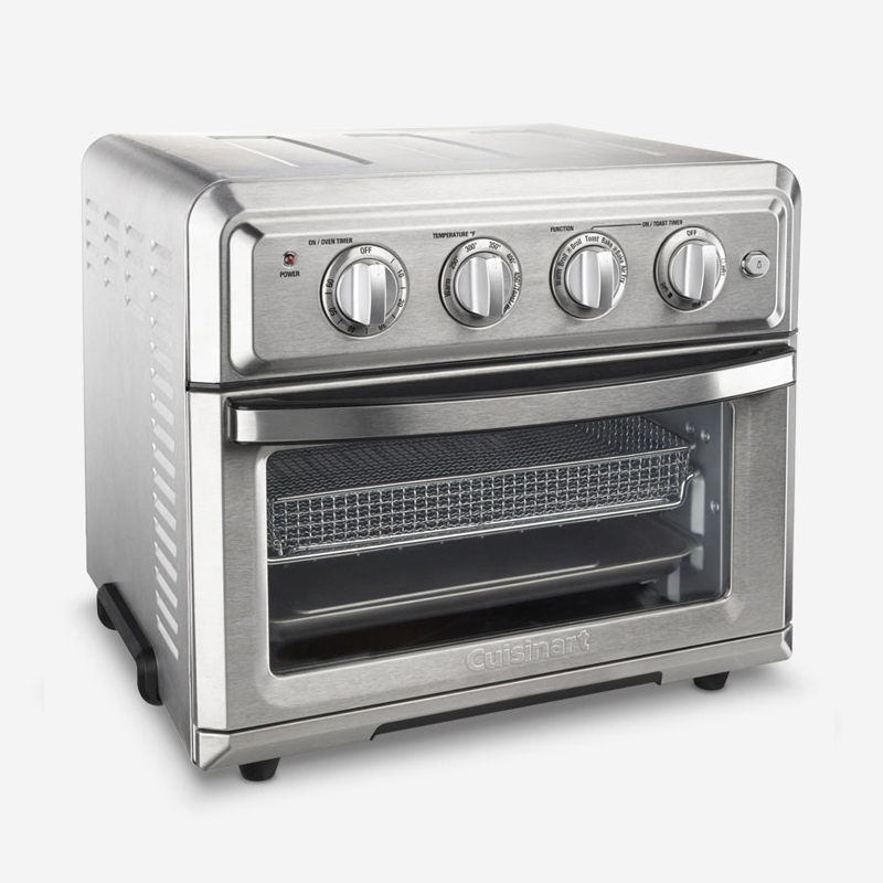 Cuisinart Toaster Oven Air Fryer Bake Broil Toast Easy Clean Brushed Stainless