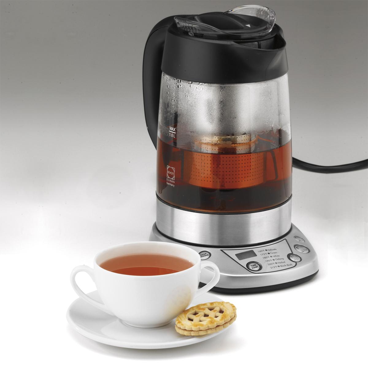 perfectemp programmable tea steeper and kettle cuisinart