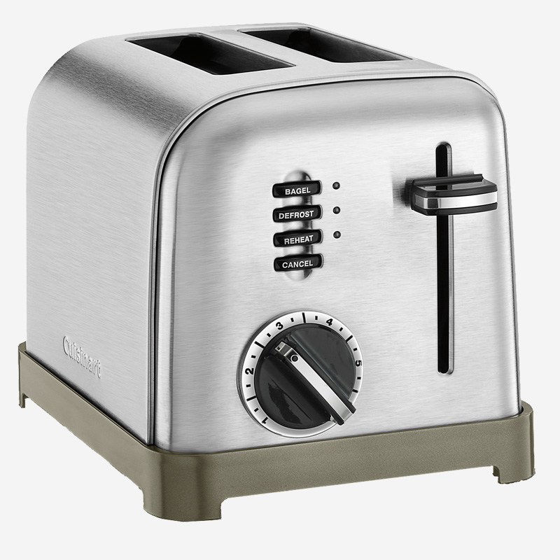 Metal Classic 2 Slice Toaster